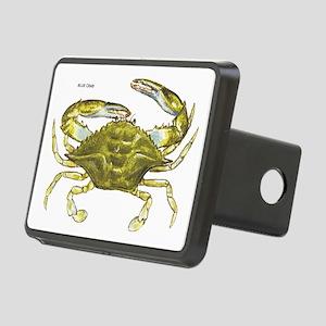 Blue Crab Rectangular Hitch Cover