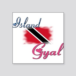 Island Gyal - Trini Rectangle Sticker