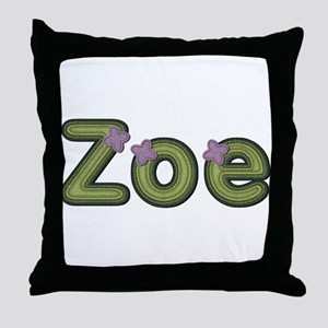 Zoe Spring Green Throw Pillow