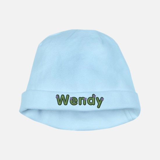 Wendy Spring Green baby hat