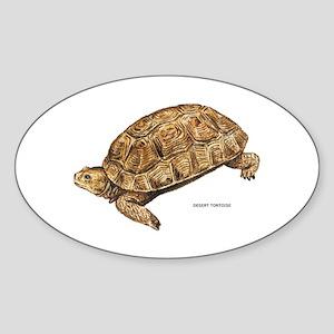 Desert Tortoise Sticker (Oval)