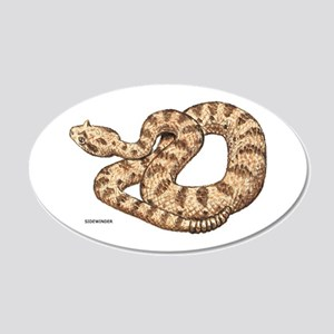 Sidewinder Snake 20x12 Oval Wall Decal