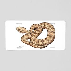Sidewinder Snake Aluminum License Plate
