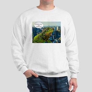 Comical Iguana Sweatshirt
