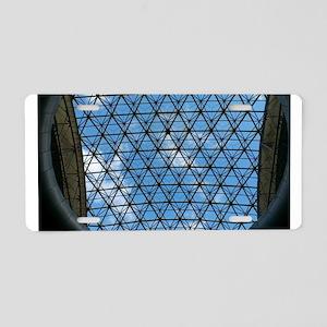 lattice and blue sky Aluminum License Plate