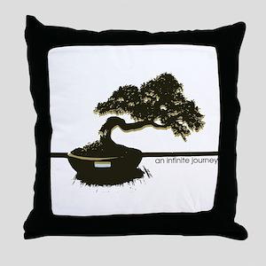 the leaning bonsai  Throw Pillow