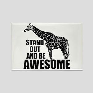 Awesome Giraffe Rectangle Magnet