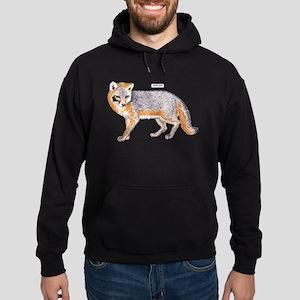 Gray Fox Animal Hoodie (dark)