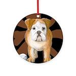 StephanieAM Bulldog Ornament (Round)