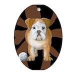 StephanieAM Bulldog Ornament (Oval)