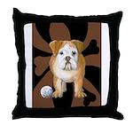 StephanieAM Bulldog Throw Pillow