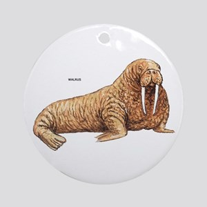 Walrus Animal Ornament (Round)