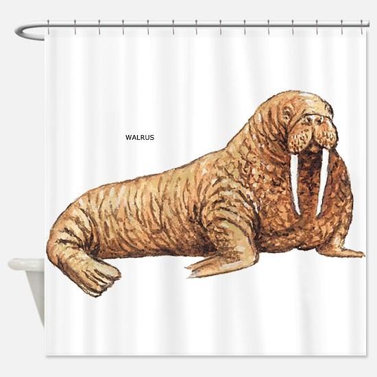Walrus Animal Shower Curtain