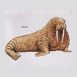 Walrus Animal Throw Blanket