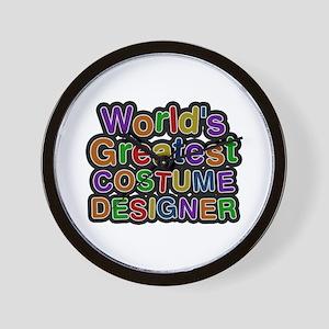 World's Greatest COSTUME DESIGNER Wall Clock