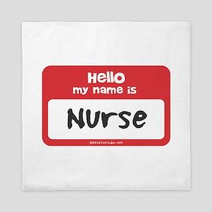 Nurse Name Tag Queen Duvet
