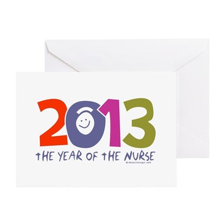 2013 - Year of the Nurse Greeting Card