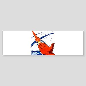 rocket soviet space propaganda Bumper Sticker