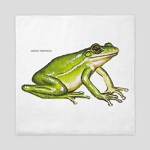 Green Treefrog Frog Queen Duvet