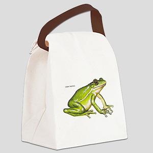 Green Treefrog Frog Canvas Lunch Bag
