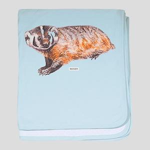 Badger Animal baby blanket