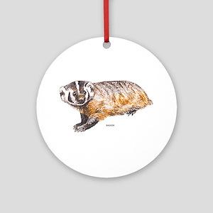 Badger Animal Ornament (Round)