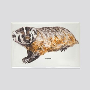 Badger Animal Rectangle Magnet