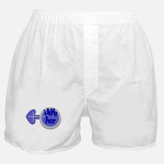 I love her -Couple shirt Boxer Shorts
