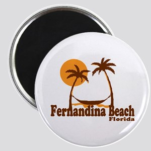 Fernandina Beach - Palm Trees Design. Magnet