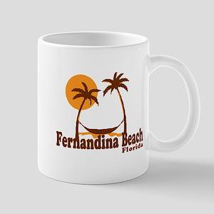 Fernandina Beach - Palm Trees Design. Mug