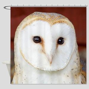 Wild Barn Owl Shower Curtain