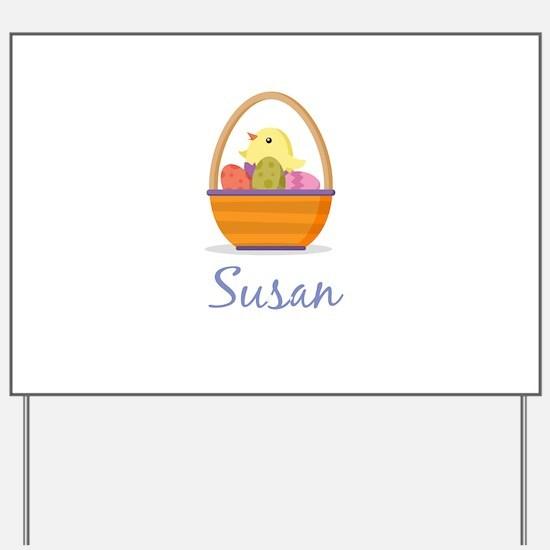 Easter Basket Susan Yard Sign