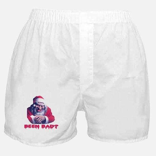 SCARY SANTA ... BEEN BAD? Boxer Shorts