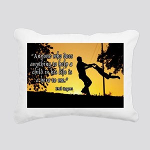 Mr. Rogers Child Hero Quote Rectangular Canvas Pil