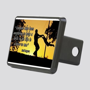 Mr. Rogers Child Hero Quote Rectangular Hitch Cove
