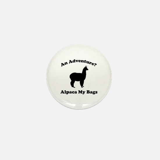 An Adventure? Alpaca My Bags Mini Button