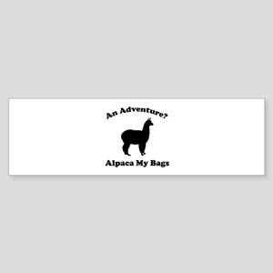 An Adventure? Alpaca My Bags Sticker (Bumper)