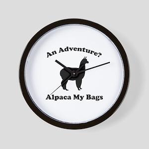 An Adventure? Alpaca My Bags Wall Clock