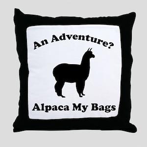 An Adventure? Alpaca My Bags Throw Pillow