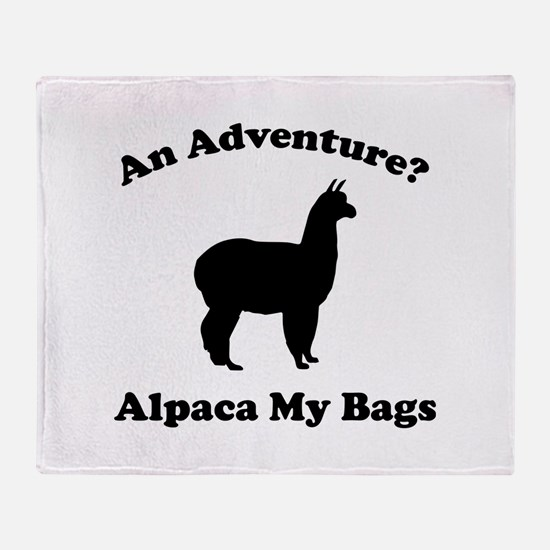 An Adventure? Alpaca My Bags Stadium Blanket
