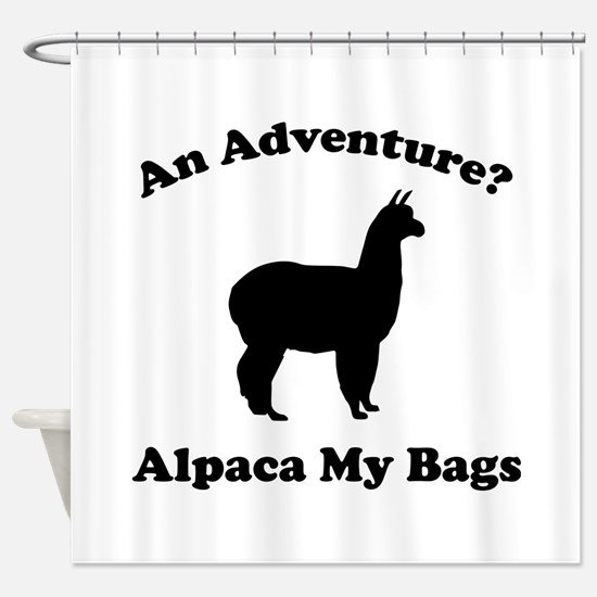 An Adventure? Alpaca My Bags Shower Curtain