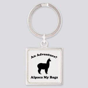 An Adventure? Alpaca My Bags Square Keychain