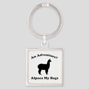 An Adventure? Alpaca My Bags Square Keychain