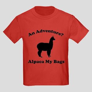 An Adventure? Alpaca My Bags Kids Dark T-Shirt