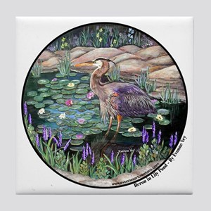 Heron Lily Pond Tile Coaster