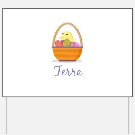 Easter Basket Terra Yard Sign