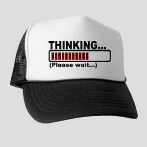 thinking,please wait Trucker Hat