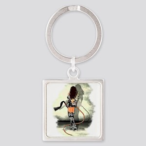 Bullwhip Mistress Square Keychain