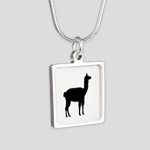 Llama Silver Square Necklace