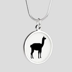 Llama Silver Round Necklace
